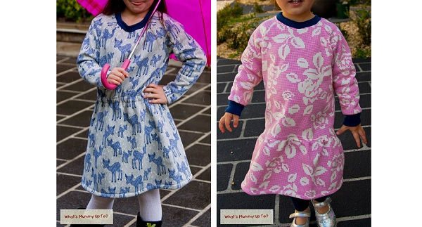 Tutorial: 2 girls dress styles from a raglan sleeve t-shirt pattern