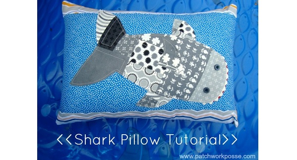 Tutorial: Patchwork shark pillow