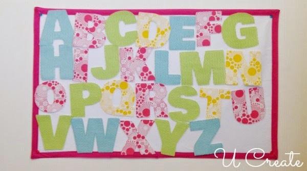 Tutorial: Fabric felt board alphabet