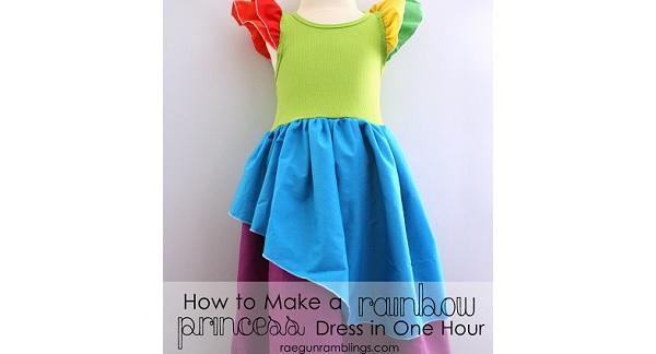 Tutorial: Rainbow princess dress