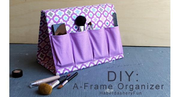 Tutorial: Fold-up A-frame organizer