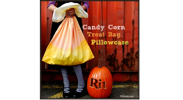 Tutorial: Candy cane pillowcase trick or treat bag