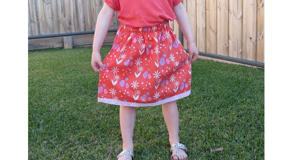 Tutorial: Sew simple gathered skirt