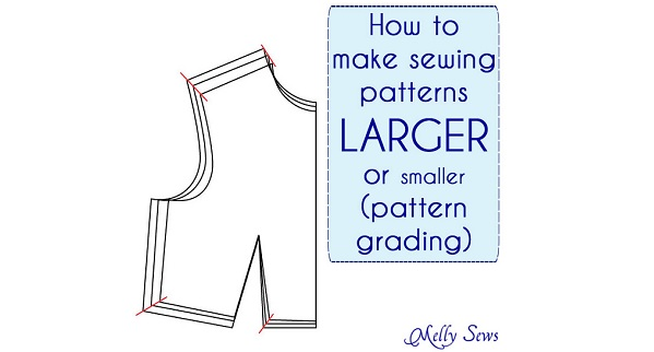 Tutorial resize a sewing pattern to make it bigger or