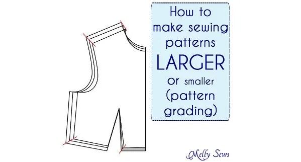 Tutorial: Resize a sewing pattern to make it bigger or smaller – Sewing