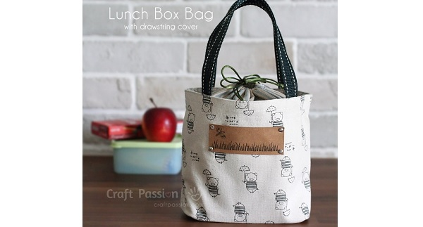 Tutorial Lunch Bag With A Drawstring Top Sewing