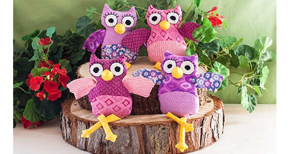 Free pattern: Adorable owl softies