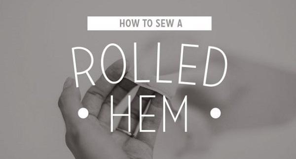 Tutorial: Machine sewn rolled hem