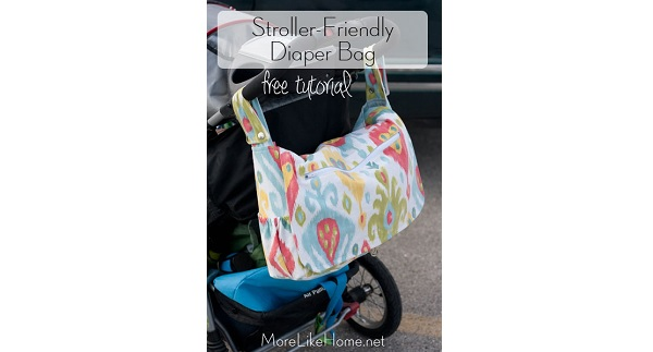 Tutorial: Stroller-friendly diaper bag