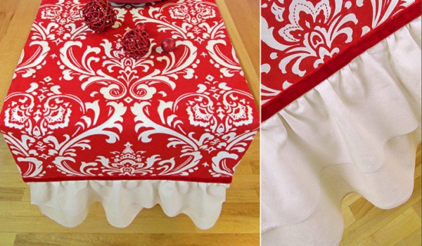 Tutorial: Ruffled end table runner