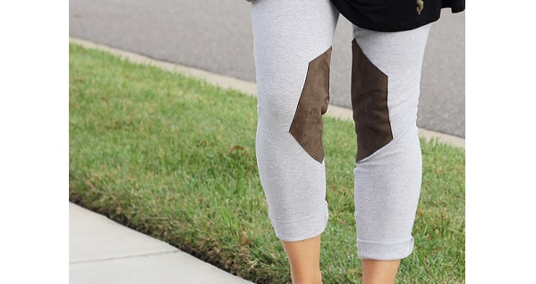 Tutorial: Leather knee patch leggings
