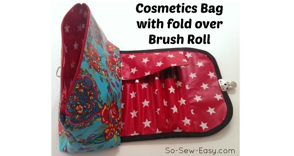 Tutorial: Travel makeup pouch & brush roll all in one