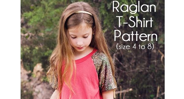 Free pattern: Blinged Out Raglan Tee