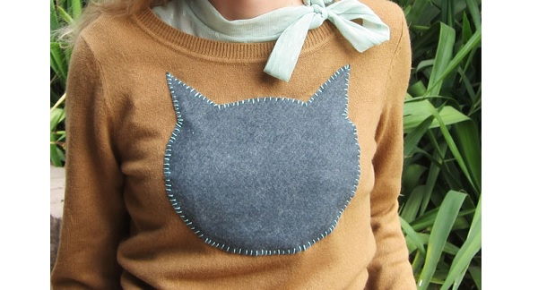 Tutorial: DIY cat face sweater