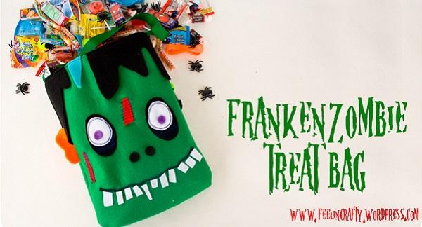 Tutorial: FrankenZombie trick or treat bag