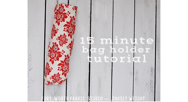 Tutorial: 15-minute grocery bag holder