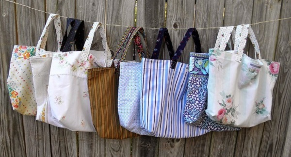 Tutorial: Pillowcase reusable shopping tote
