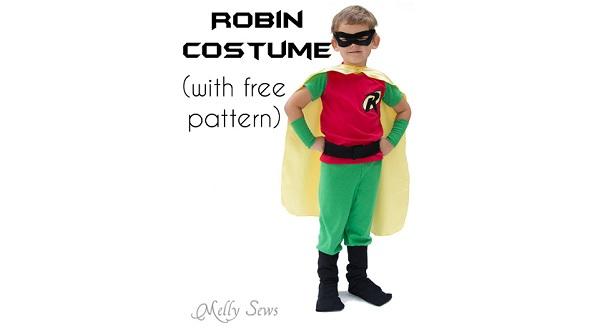 Free Pattern Kids Batman And Robin Halloween Costumes
