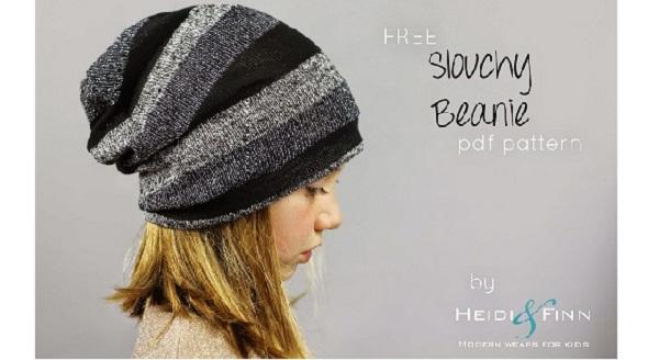 Free pattern: Kids slouchy beanie hat
