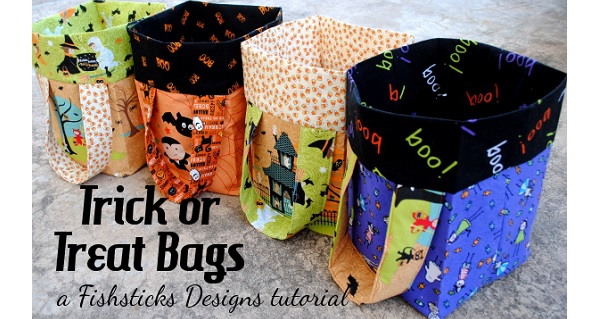Tutorial: Trick or treat bucket bags