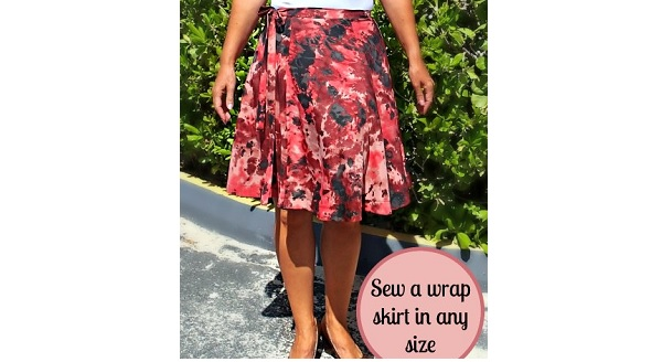 Tutorial: Draft and sew a half circle wrap skirt