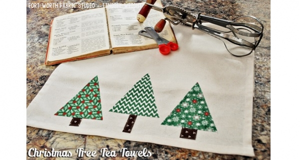Tutorial: Christmas tree tea towel