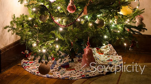 Tutorial: Simple Christmas tree skirt