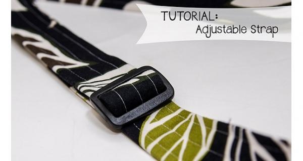 Tutorial: How to make adjustable bag straps