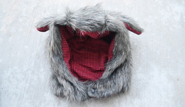 Free pattern: Faux fur animal hood in 6 sizes