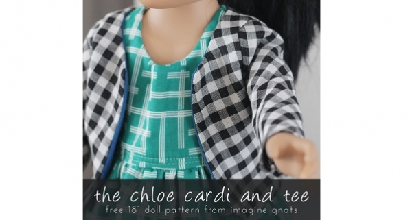"Free pattern: Chloe Cardi and Tee for 18"" Dolls"