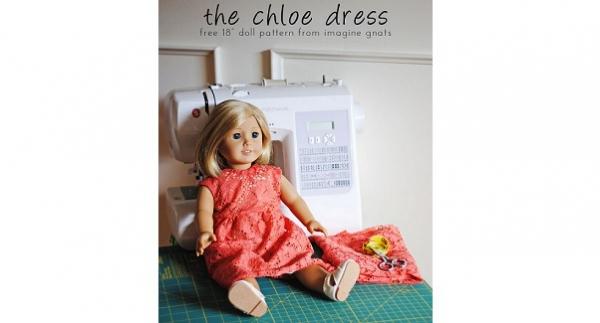 "Free pattern: Chloe Dress for 18"" dolls"