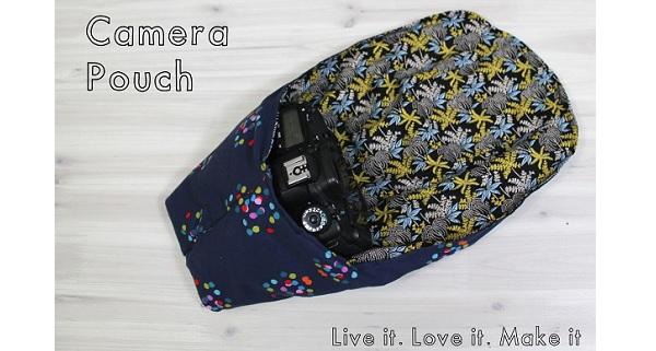 Free pattern: Padded DSLR camera pouch