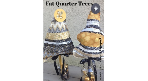 Tutorial: Stuffed Christmas trees from fat quarters