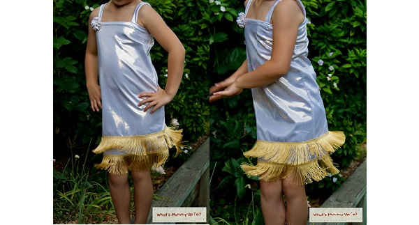 Tutorial Little Girls 1920s Style Flapper Dress Costume Sewing