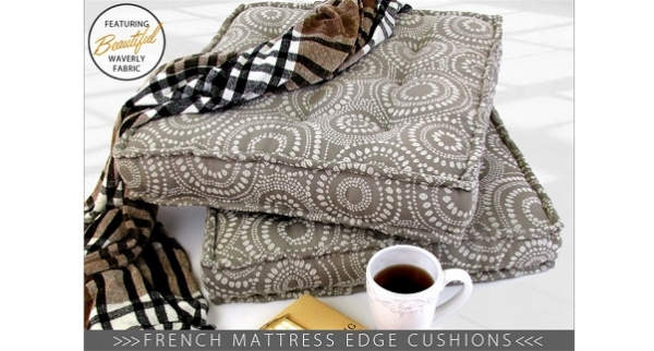 Tutorial: Floor cushions with a French mattress edge