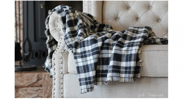 Tutorial: Easy fringed flannel throw blanket