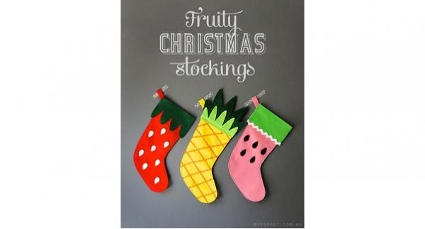 Free pattern: Fruity Christmas Stockings