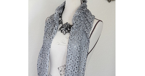 Tutorial: Easy ruched lace scarf
