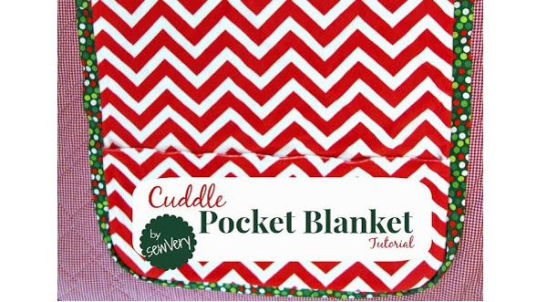 Tutorial: Cuddle Pocket Blanket to keep your feet warm