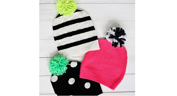 Tutorial: Sweater pom pom hat