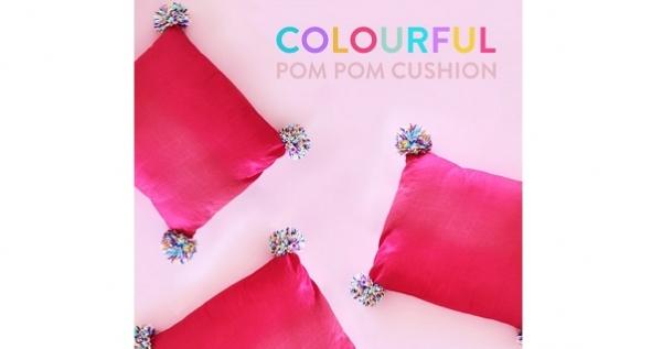 Tutorial: Pom pom pillows
