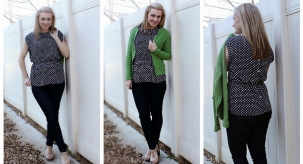 Tutorial: Elastic waist bow blouse refashion