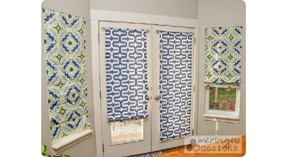 Superb Tutorial: How To Make Roman Shades For French Doors