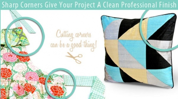 Tutorial: How to get sharp corners in your sewing projects