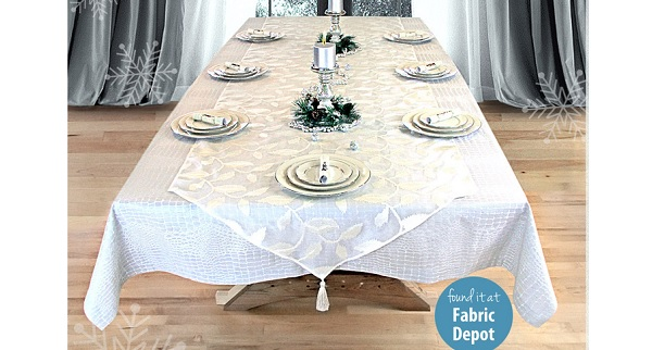 Tutorial: Tablecloth and sheer overlay set