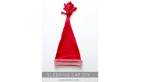 Tutorial: Kids sleeping cap, plus a freebie Christmas card overlay