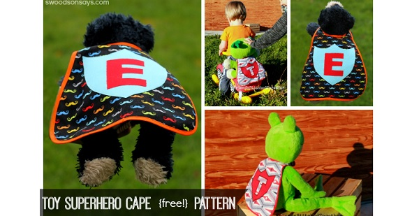 Free pattern: Superhero cape for a stuffed animal or doll