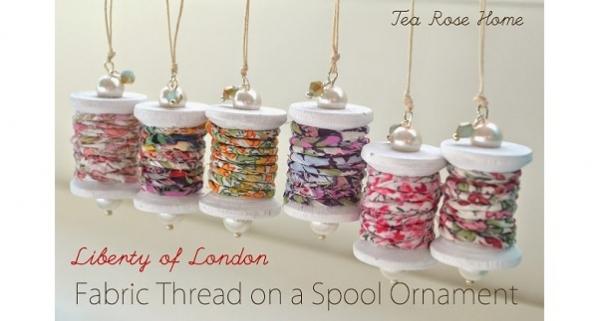 Tutorial: Spool of thread Christmas ornament