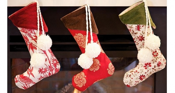 free pattern velvet cuff christmas stockings