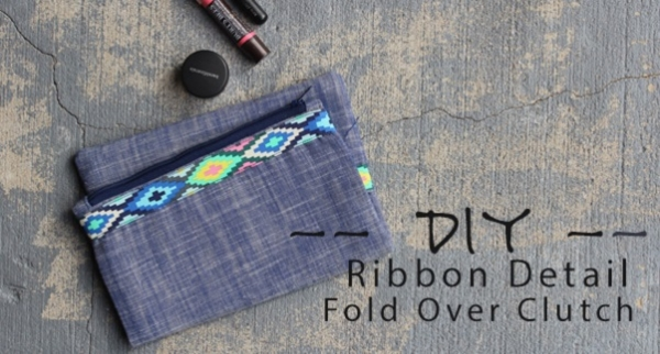 Tutorial: Ribbon detail fold over clutch